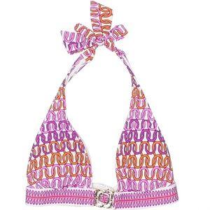 Trina Turk Pink Purple Geometric Print Bikini Top